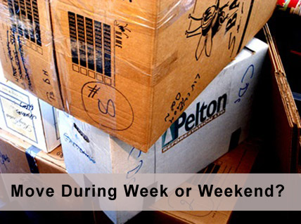 Moving During the Week vs. During the Weekend - Edmonton Movers