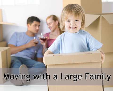 Edmonton Movers - How to Move with a Large Family